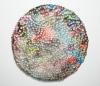 <br>19 inches diameter/ 48.3 cm diameter. Clay, glaze, paint.