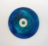 <br>12 inch diameter. Clay, glaze, paint.