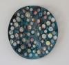 <br>12 inch (30cm) diameter, 4 inch (10.15cm)depth. Clay, Glaze, Paint.</br>
