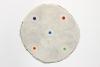 "<br>12.75"" diameter/ 32.4 cm. Clay, glaze, paint."