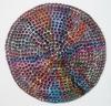 <br>10 inch (25.4 cm) diameter. Clay, Glaze, Paint.</br>