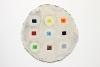 "<br>12.25"" diameter/ 31.1 cm. Clay, glaze, paint."