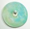"""<br>11.25 x 11.5 x 1.75"""" / 28.5 x 29.2 x 4.4 cm., Clay, glaze, paint."""