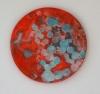 <br>7.75 inch (19.7cm) diameter. Clay, Glaze, Paint.</br>