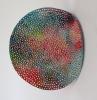<br>12.25 inch (31.11 cm) diameter, 4 inch (10.15 cm) depth .Clay, Glaze, Paint.</br>