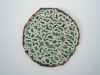 "<br>8"" Diameter Clay, glaze, paint"