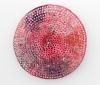 "<br>10.25"" diameter/ 26 cm., 1.75"" depth/ 4.5 cm., Clay, glaze, paint."